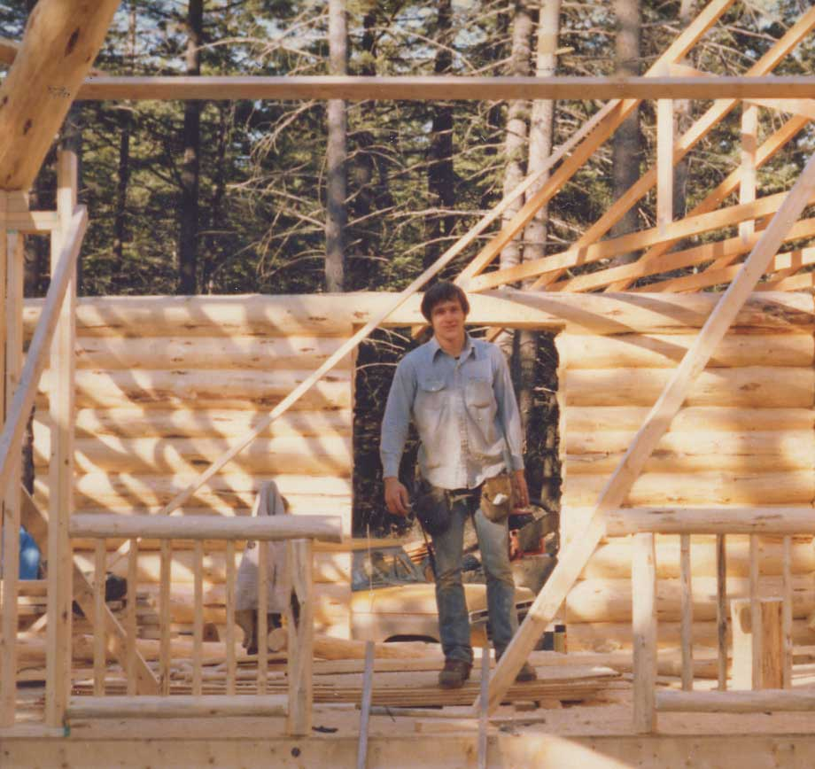 Early days John building log homes